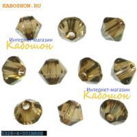 Swarovski Xilion beads 4 мм Crystal Bronze Shade