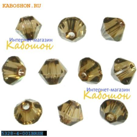 Бусина биконус Swarovski (Сваровски) Xilion beads 4 мм Crystal Bronze Shade