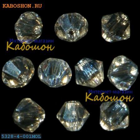 Swarovski Xilion beads 4 мм Crystal Moonlight