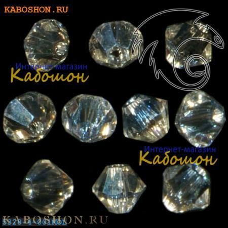 Бусина биконус Swarovski (Сваровски) Xilion beads 4 мм Crystal Moonlight