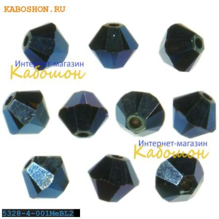 Swarovski Xilion beads 4 мм Crystal Metallic blue 2x