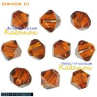 Swarovski Xilion beads 4 мм Crystal Red Magma