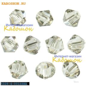 Swarovski Xilion beads 4 мм Crystal Silver Shade