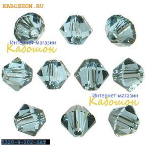 Swarovski Xilion beads 3 мм Aquamarine Satin