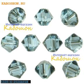 Swarovski Xilion beads 4 мм Aquamarine Satin