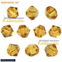 Swarovski Xilion beads 4 мм Topaz