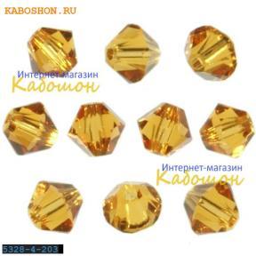 Swarovski Xilion beads 3 мм Topaz