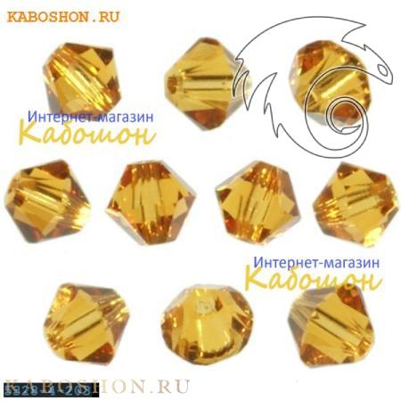 Swarovski Xilion beads 3 мм Topaz 5328-3-203