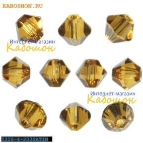 Swarovski Xilion beads 4 мм Topaz Satin