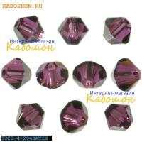Swarovski Xilion beads 4 мм Amethyst Satin