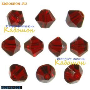 Swarovski Xilion beads 4 мм Siam