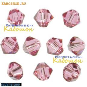 Swarovski Xilion beads 4 мм Rose
