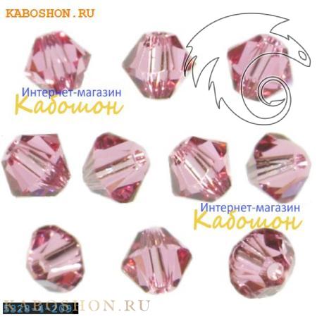 Бусина биконус Swarovski (Сваровски) Xilion beads 4 мм Rose