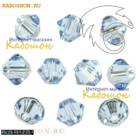 Бусина биконус Swarovski (Сваровски) Xilion beads 4 мм Lt.Sapphire