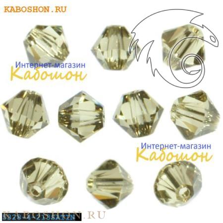Бусина биконус Swarovski (Сваровски) Xilion beads 4 мм Jonquil Satin