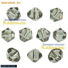 Swarovski Xilion beads 4 мм Black Diamond