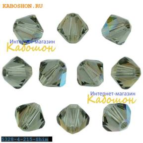 Swarovski Xilion beads 4 мм Black Diamond Shimmer
