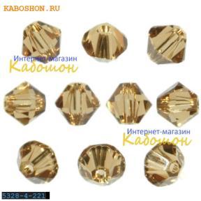 Swarovski Xilion beads 4 мм Light Smoked Topaz
