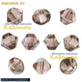 Swarovski Xilion beads 4 мм Lt.Rose Satin