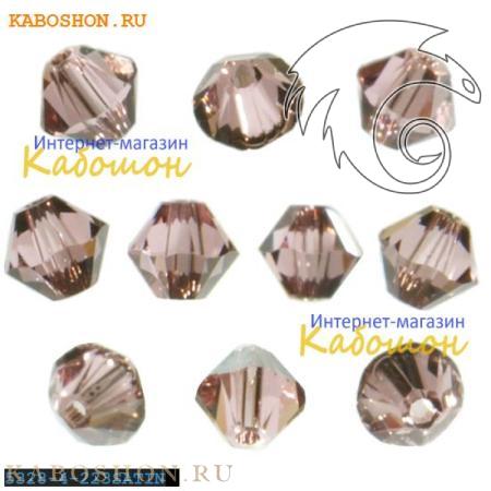 Swarovski Xilion beads 4 мм Light Rose Satin 5328-4-223SAT