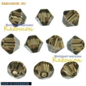 Swarovski Xilion beads 4 мм Smoked Quartz Satin
