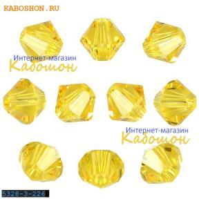 Swarovski Xilion beads 4 мм Light Topaz