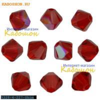 Swarovski Xilion beads 4 мм Lt.Siam Shimmer