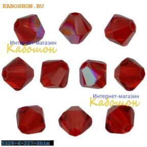 Swarovski Xilion beads 4 мм Light Siam Shimmer