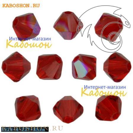 Бусина биконус Swarovski (Сваровски) Xilion beads 4 мм Lt.Siam Shimmer