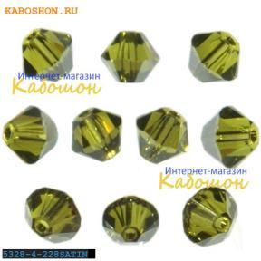 Swarovski Xilion beads 4 мм Olivine Satin