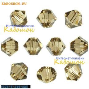 Swarovski Xilion beads 3 мм Lt.Colorado Topaz Satin