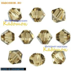 Swarovski Xilion beads 4 мм Light Colorado Topaz Satin