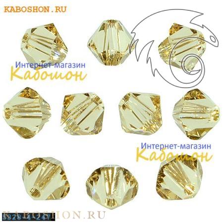 Бусина биконус Swarovski (Сваровски) Xilion beads 4 мм Ceylon Topaz