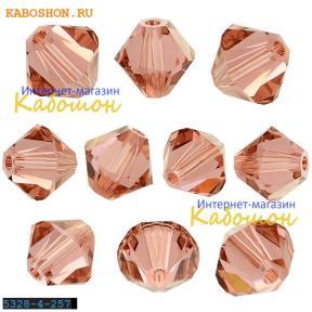 Swarovski Xilion beads 4 мм Blush Rose
