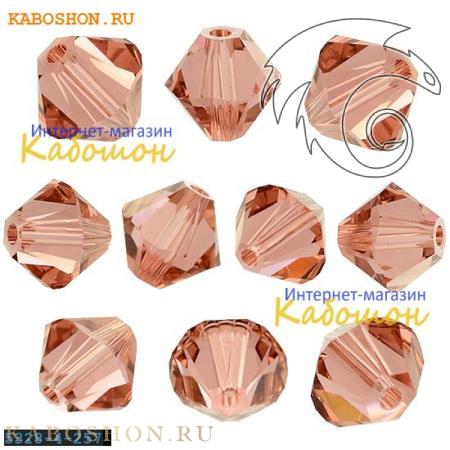 Бусина биконус Swarovski (Сваровски) Xilion beads 4 мм Blush Rose