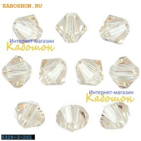 Swarovski Xilion beads 4 мм Light Silk