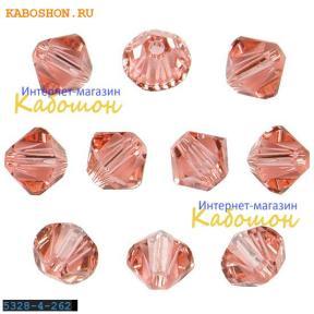 Swarovski Xilion beads 4 мм Rose Peach