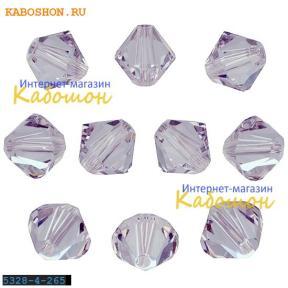 Swarovski Xilion beads 4 мм Smoky Mauve