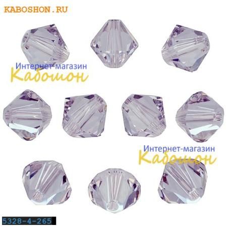 Бусина биконус Swarovski (Сваровски) Xilion beads 4 мм Smoky Mauve