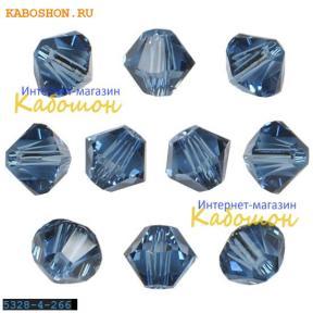 Swarovski Xilion beads 4 мм Denim Blue