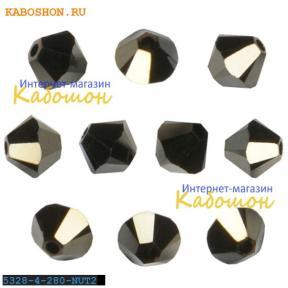Swarovski Xilion beads 3 мм Jet Nut 2x