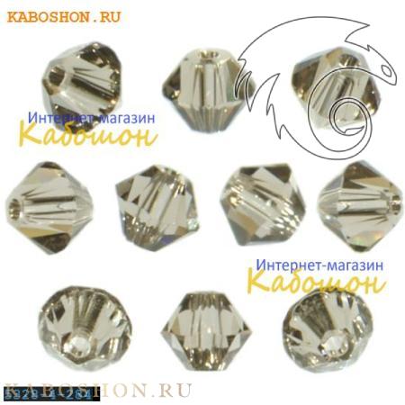 Бусина биконус Swarovski (Сваровски) Xilion beads 4 мм Greige