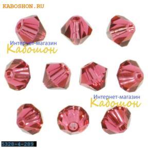 Swarovski Bicone beads 3 мм Indian Pink