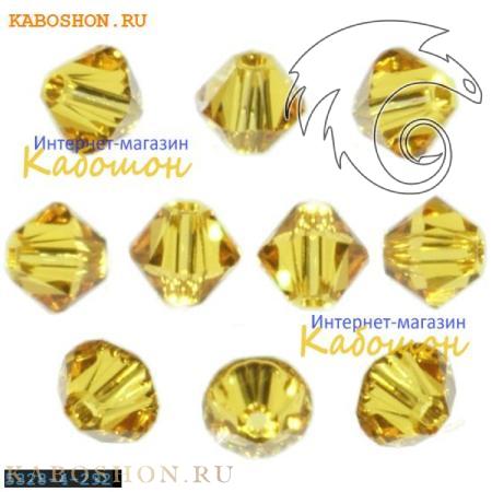 Бусина биконус Swarovski (Сваровски) Xilion beads 4 мм Sunflower