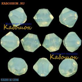 Swarovski Xilion beads 4 мм Chrysolite Opal