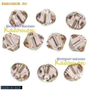Swarovski Xilion beads 3 мм Vintage Rose