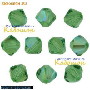 Swarovski Xilion beads 3 мм Erinite Shimmer