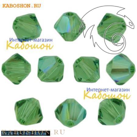 Бусина биконус Swarovski (Сваровски) Xilion beads 4 мм Erinite Shimmer