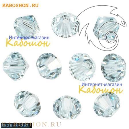 Бусина биконус Swarovski (Сваровски) Xilion beads 4 мм Lt.Azore