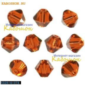 Swarovski Xilion beads 4 мм Indian Red